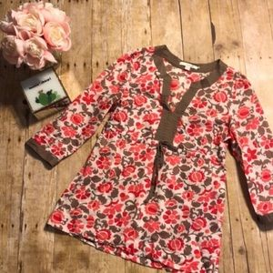 Boden Floral Popover Top WA261 US Size 4